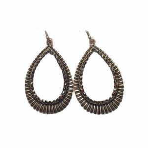 Rhinestone Elongated Teardrop Earrings
